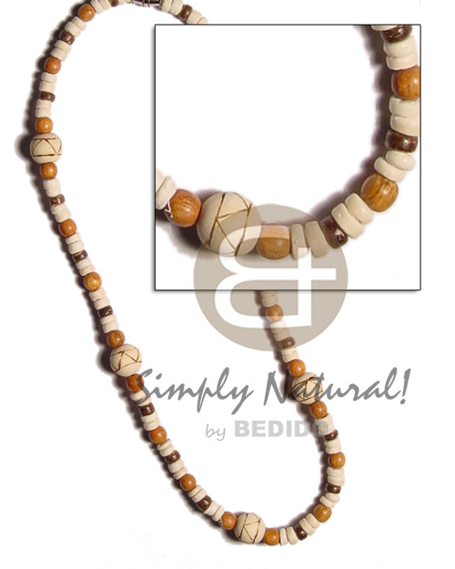 Fashion 4-5mm coco pokalet. bleach brown surfer necklace