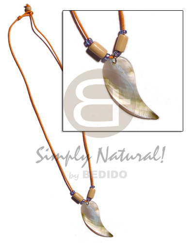 Fashion 35mm tadpole mop in wax teens necklace