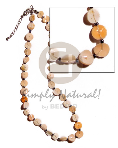 Cebu floating melo heishe teens necklace