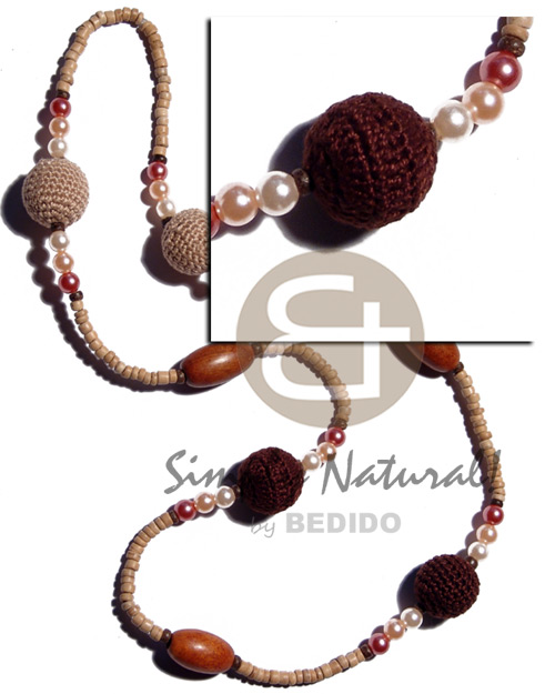 Philippines 4-5mm natural coco pokalet teens necklace