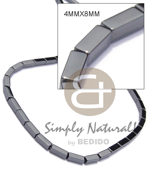 Fashion hematite silvery shiny teens necklace