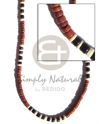 Philippine 4-5 mm coco pokalet brown teens necklace