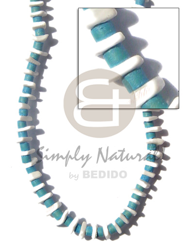 Fashion 4-5 mm coco heishe aqua teens necklace