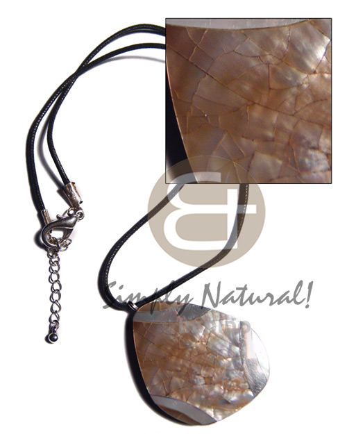 Cebu black wax cord freeform teens necklace