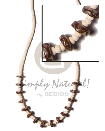 Teens 2-3mm coco pokalet nat teens necklace