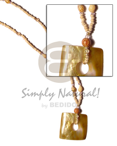 Handmade 2-3 coco pokalet natural teens necklace