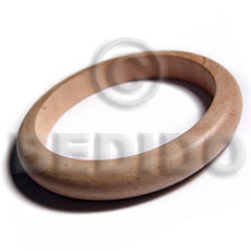 Unisex plain wholesale raw natural wooden blank bangle casing only unfinished wooden bangles