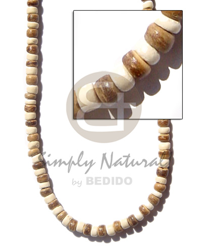 Handmade 4-5mm coco pukalet tiger unisex necklace