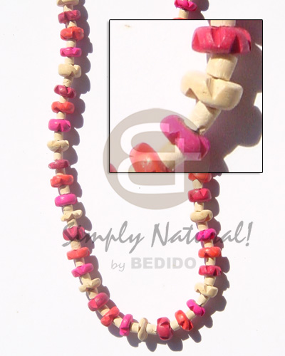 Wholesale 2-3 heishe bleach in unisex necklace