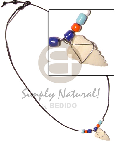 Unisex cord beads coco pokalet and unisex necklace