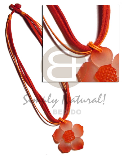 Ethnic 4 layer red orange womens necklace