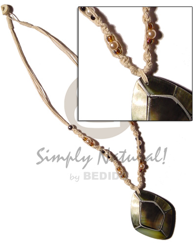 Unisex macrame bead accent and womens necklace