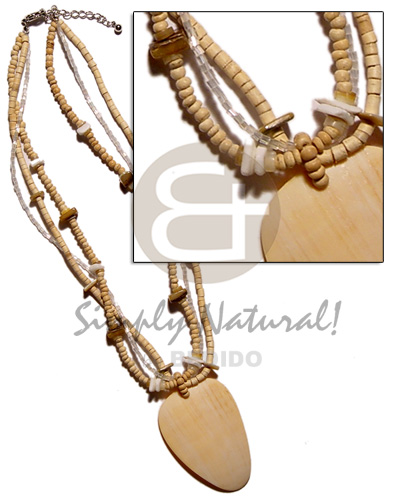 Philippine 3 layet coco natural 2-3mm womens necklace