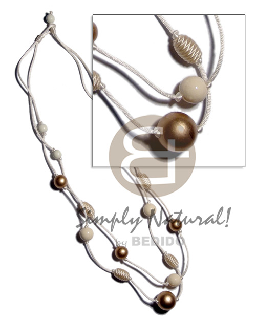 Philippine 2 layes crème satin cord womens necklace