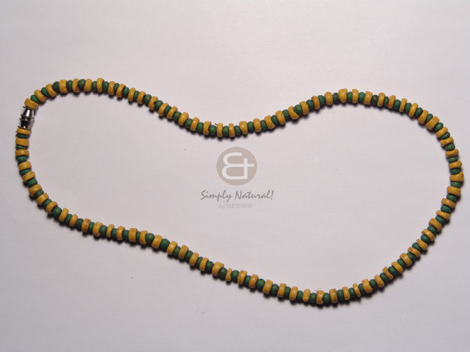 Fashion 3 rows coco pokalet bleach womens necklace