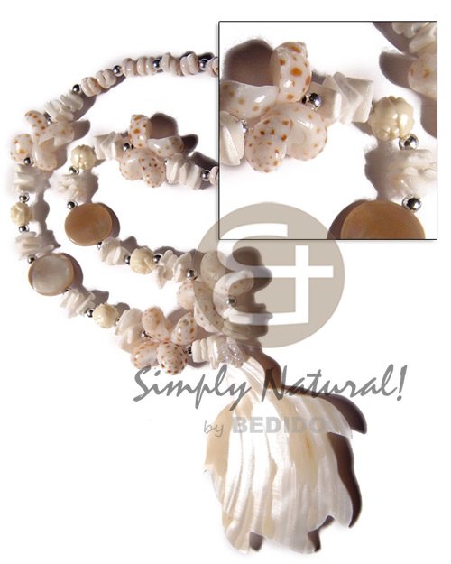 Wholesale tiger puka shells white womens necklace