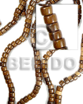Wholesale robles pokalet 4x7mm wood beads