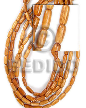 Philippine bayong oval wood 10x20mm wood beads