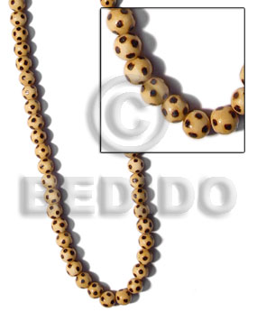 Native natural wood round beads wood beads