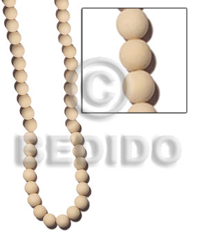 Teens 6-7mm natural white round wood wood beads
