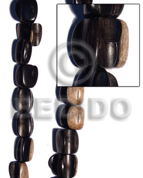 Philippines tiger camagong crazy cut 20mmx15mm wood beads