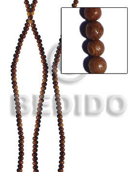 Natural round robles wood beads 5mm wood beads