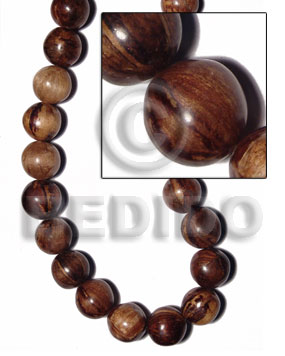 Ladies 30mm round beads natural white wood beads
