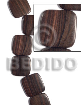 Wholesale 35mmx35mmx5mm square round edges wood beads