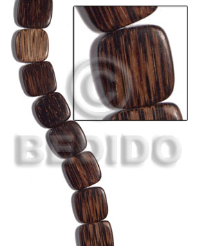 Philippine 16mmx16mmx5mm patikan face to face wood beads