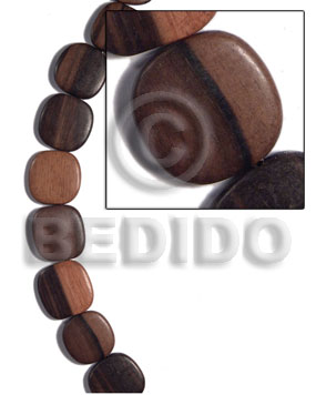 Teens 25mmx25mmx5mm camagong tiger ebony hardwood wood beads