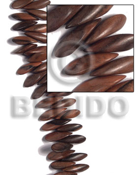 Philippines 30mmx8mmx11mm petals camagong tiger ebony wood beads