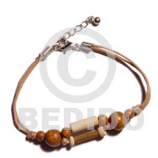 Philippines bamboo wood beads combination wood bracelets