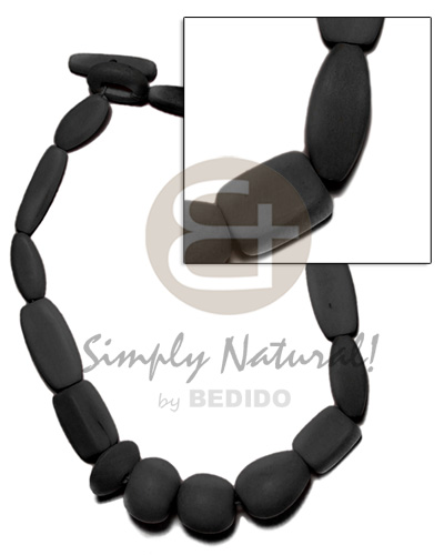 Philippines natural wood beads dyed in wood necklace