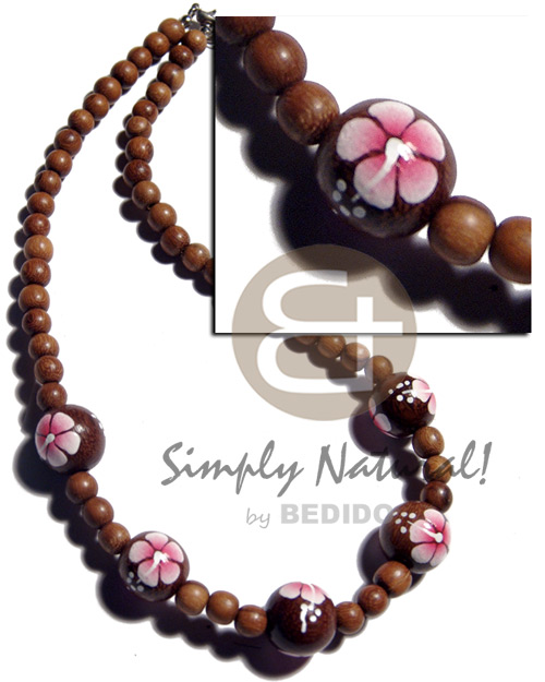 Teens 8mm round robles wood beads wood necklace