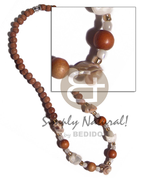 Handmade 6mm 8mm bayong wood beads wood necklace