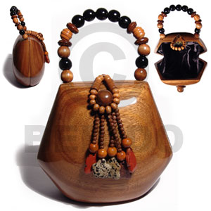 Cebu collectible handcarved laminated acacia wooden acacia bags