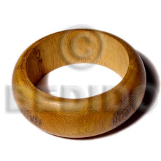 Handmade robles rounded wood bangle wooden bangles