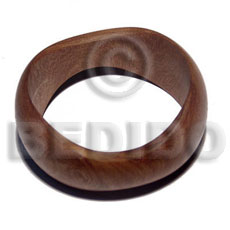 Handmade madre de cacao round sloped wooden bangles