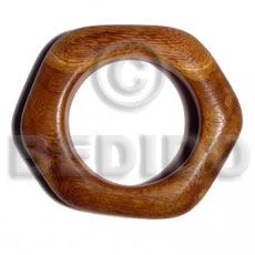 Ladies bayong chunky irregular wood bangle wooden bangles