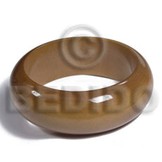 Unisex golden oak tone grained sanded stained wooden bangles