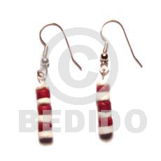 Cebu dangling maroon 4-5 coco pokalet wooden earrings