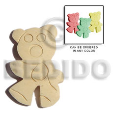 Philippines natural white wood teddy bear wooden pendant