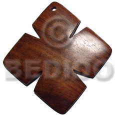 Handmade 45mm cross in bayong wood wooden pendant