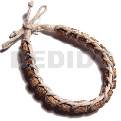 Wholesale mahogany cylinder beads in macrame